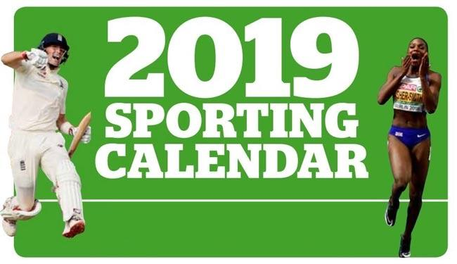 August 2019 Sports Schedule announced - Sakshi