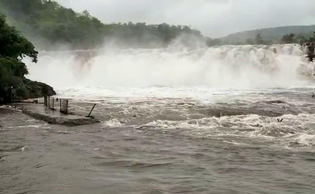 Water Flow Increased In Bogatha Waterfalls - Sakshi