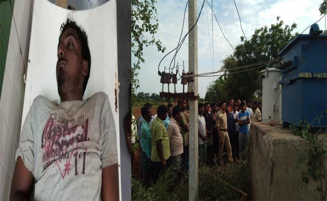 Young Man Died With Current Shock Nalgonda - Sakshi