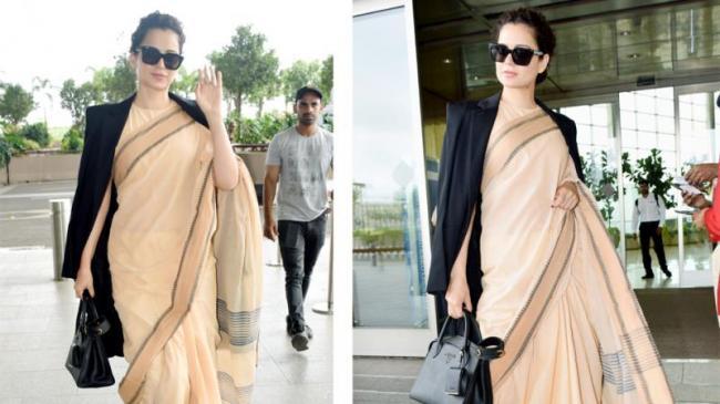 Kangana Ranaut Rs 600 Worth Saree Pic Gets Trolled - Sakshi