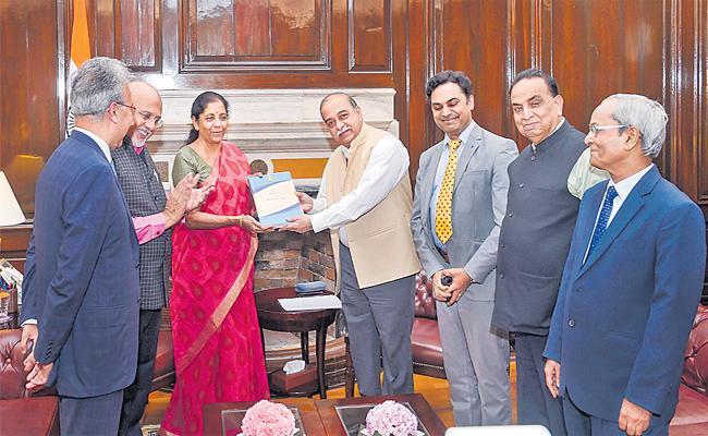 Corporate Tax Down Slowly Said Nirmala Sitharaman - Sakshi