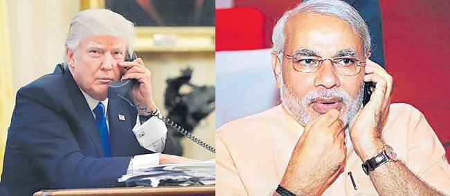 Narendra Modi speaks to Donald Trump - Sakshi