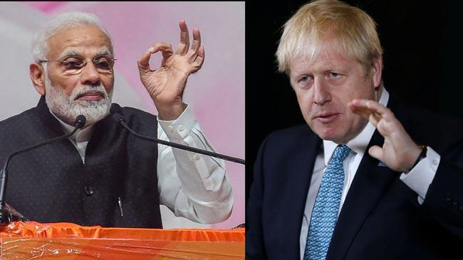 Boris Johnson calls India-Pak to resolve Kashmir issue - Sakshi