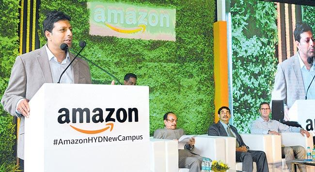 World is largest Amazon campus opens in Hyderabad - Sakshi