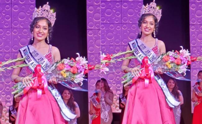 Miss Teen Asia World 2019 Title Winner Is Telugu Origin Teenager Girl Saisha - Sakshi