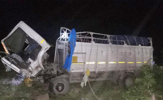 Two People Dead In Lorry Rollover at Prakasam - Sakshi