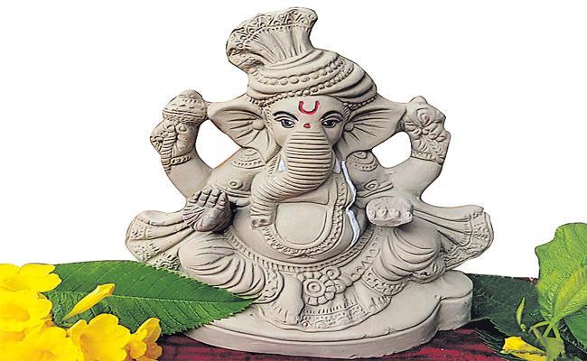 HMDA Focus Eco Friendly Ganesh Statue Distributing - Sakshi
