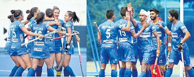 Indian mens and womens hockey wins olympic test events - Sakshi