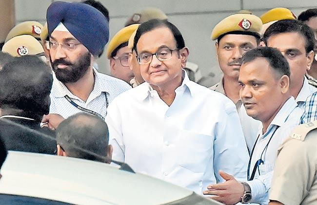 Cbi Court sends P Chidambaram to five-day CBI custody - Sakshi