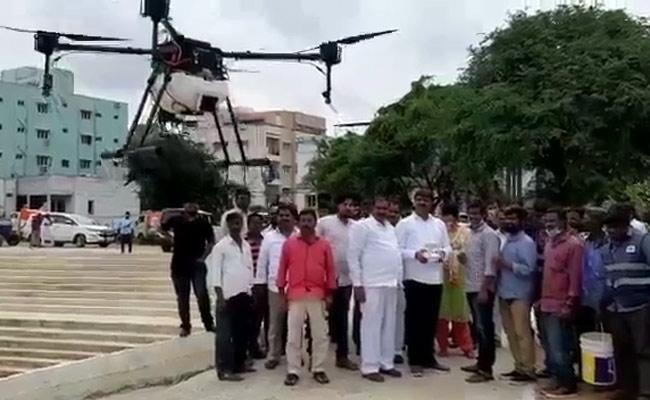 Drone Technology to Prevent Mosquitoes in GHMC - Sakshi