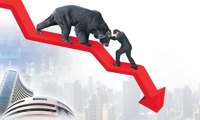 Sensex ends 587 points lower amid weak global cues - Sakshi