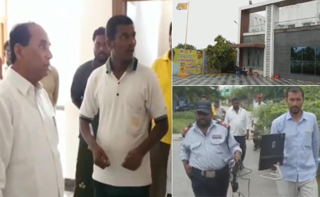 Kodela Siva Prasada Rao Plays Computers Theft Drama - Sakshi