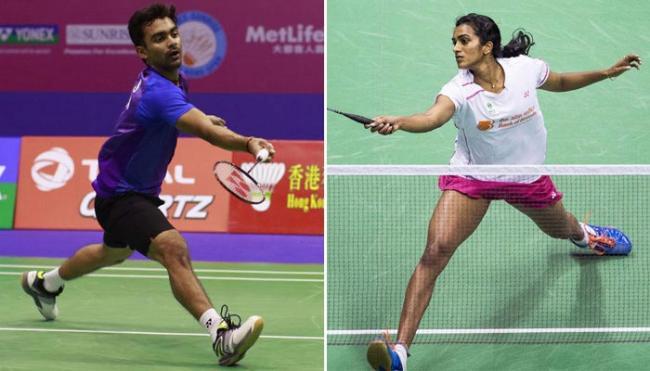 PV Sindhu, Sai Praneeth in quarterfinals - Sakshi