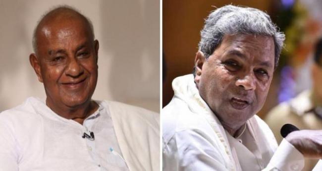 HD Deve Gowda blames Siddaramaiah for collapse of Congress-JDS coalition - Sakshi