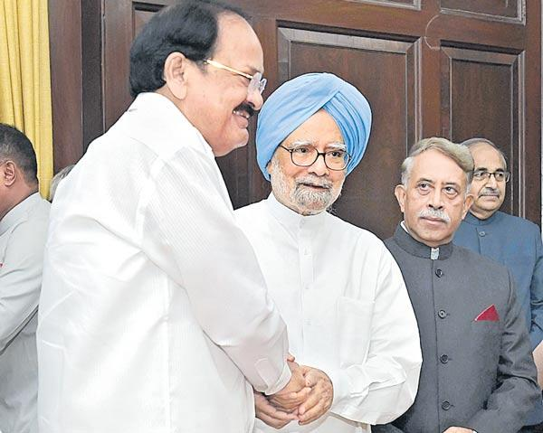 Former PM Manmohan Singh takes oath as RS member - Sakshi
