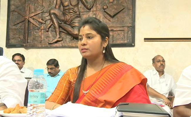 Deputy CM Pushpa Srivani Fires On KGH Doctors - Sakshi