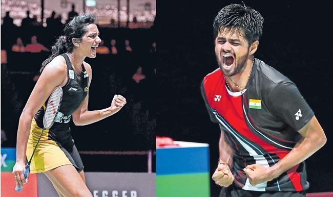 Sindhu, Sai Praneeth enter semifinal ON World Badminton Championships - Sakshi