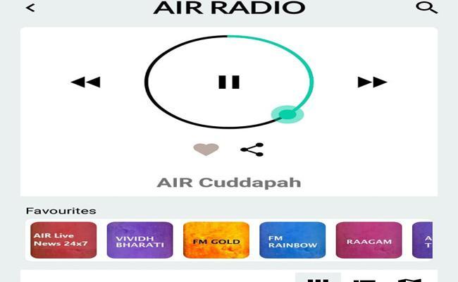 Aakasavaani Kadapa Center Broadcasts On Mobile App - Sakshi