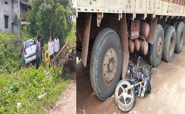 Road Accident In Kodada - Sakshi