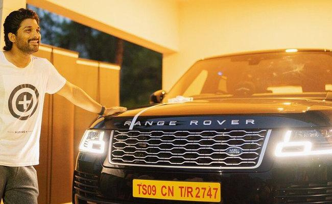 Stylish Star Allu Arjun Names his New Range Rover BEAST - Sakshi