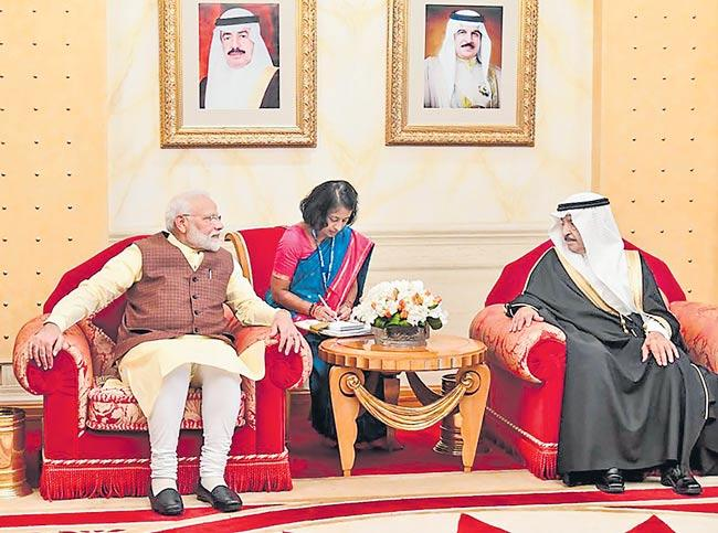 UAE crown prince confers PM Modi with highest civilian award - Sakshi