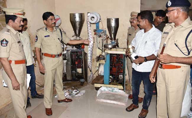 Visakhapatnam Police Raid Gutka Manufacturing Units - Sakshi