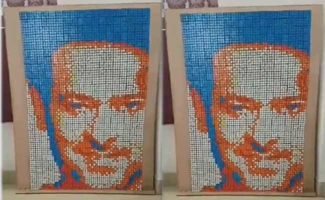 Prabhas Fan Made Prabhas Image By Rubiks Cubes - Sakshi