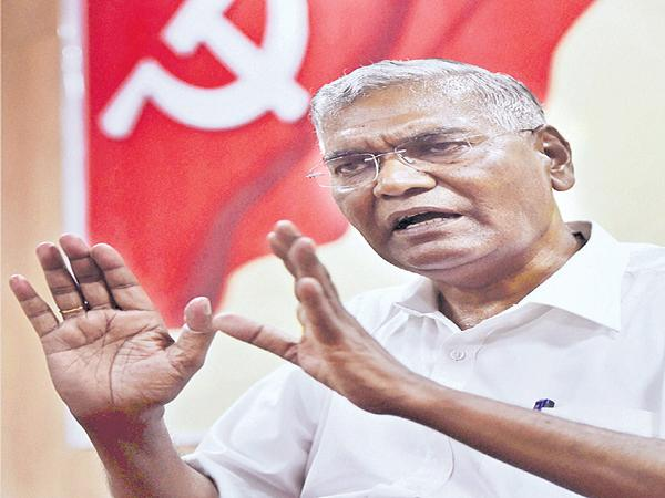 CPI Leader D Raja Interview With Sakshi