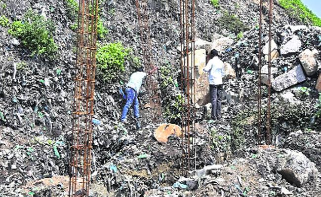 Dumping Yard Land Occupied In Rangareddy - Sakshi