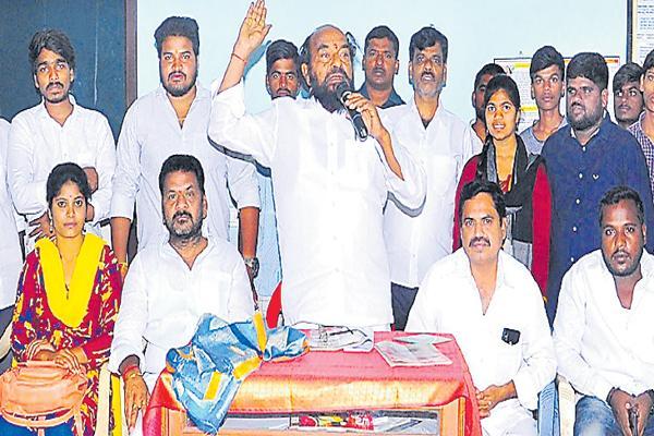 R Krishnaiah Comments about Kaloji Narayana Rao Health University VC - Sakshi