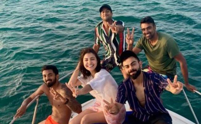 Ashwin And Rahul Join Kohli and Anushka On Caribbean Cruise - Sakshi