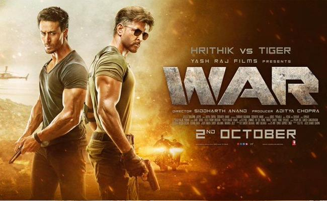 Hrithik Roshan and Tiger Shroff's Moive War Trailer is out - Sakshi