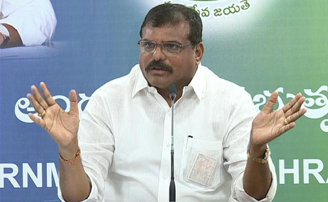 Minister Bosta SatyaNarayana Fires On Chandrababu Naidu - Sakshi