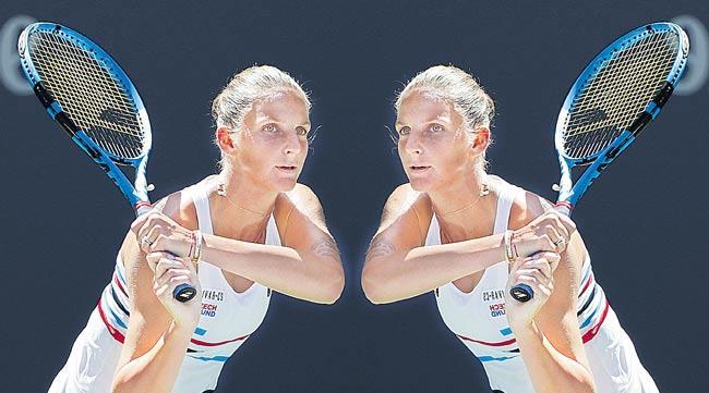 Karolina Pliskova and Ashleigh Barty survive first round scares - Sakshi