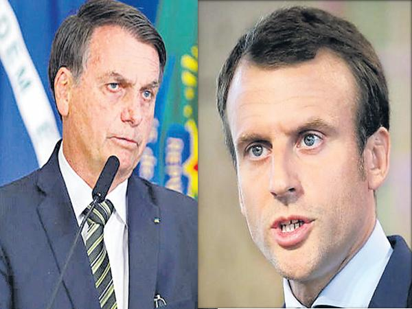 France and Brazil presidents Criticisms Over Amazon Forest Issue - Sakshi