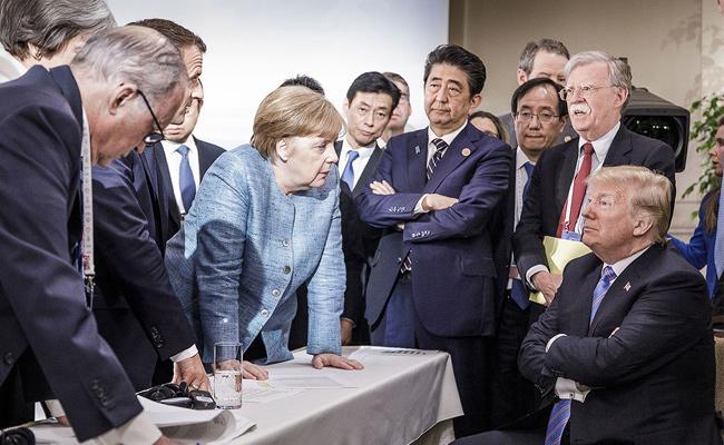 Editorial On Donald Trump Statements In G7 Summit - Sakshi