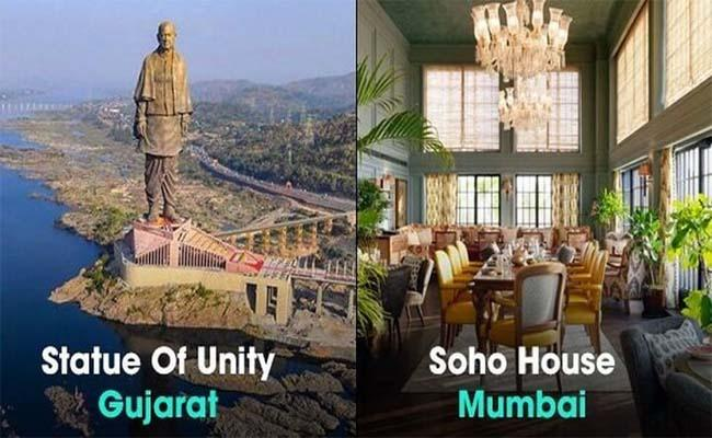 Statue of Unity and Soho House in TIMEs 100 Greatest Places 2019 List - Sakshi