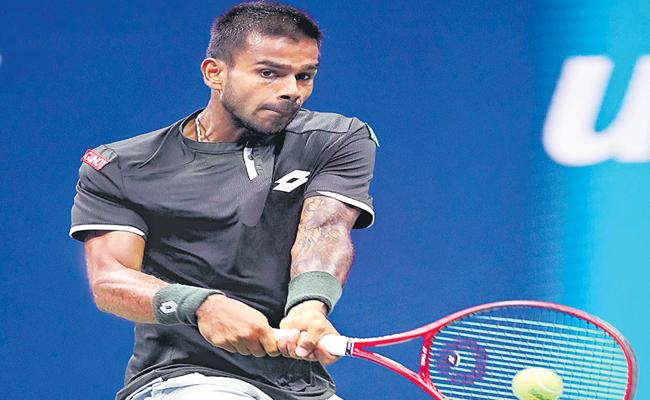 Sumith Lost The Match in US Open Tournament Of Federer - Sakshi