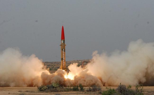 Pakistan Test Fires Ghaznavi Ballistic Missile - Sakshi