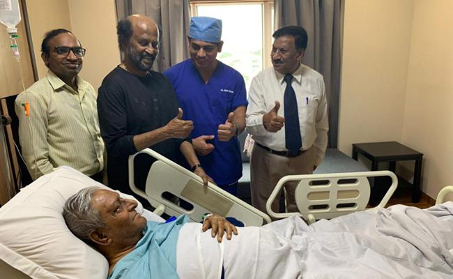 Rajinikanth Visit Apollo Hospital For His Brother - Sakshi