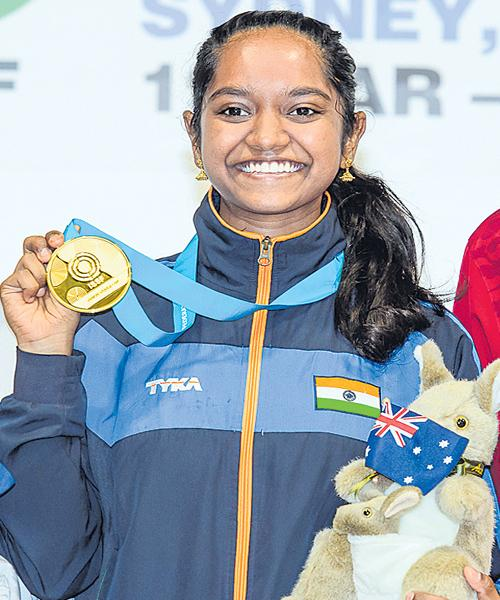 Elavenil Joins Elite List With Maiden Shooting World Cup - Sakshi