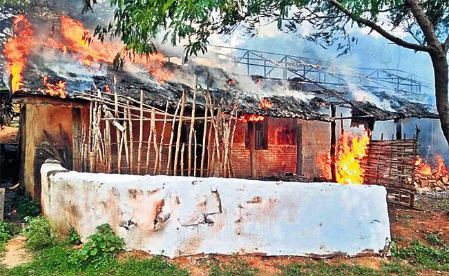 Fire Accident in Rangasthalam Cinema Set - Sakshi