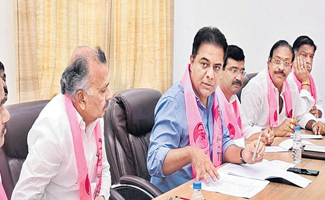 KTR Says Lets Go Aggressively In Comming Municipal Elections - Sakshi