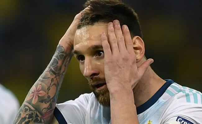 Lionel Messi Banned For Three Months - Sakshi