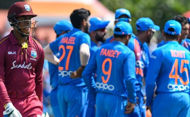 India Won By 4 Wickets Against West Indies In First T20 Match - Sakshi