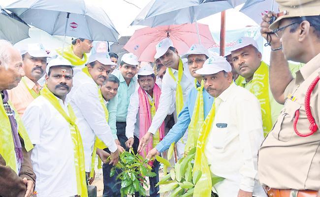 TRS MLA Bhupal Reddy Plant Trees In Medak - Sakshi