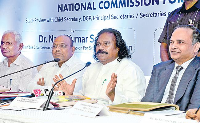 National ST Commission Chairman Nandakumar Sai Has Instructed Officials Not To Be Negligence About SC And ST Atrocity Cases - Sakshi