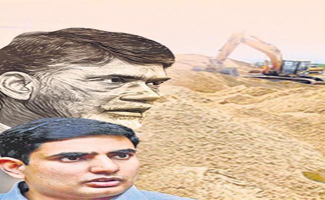 Chandrababu and Lokesh Plot To Dilute The New System Of Sand Business - Sakshi