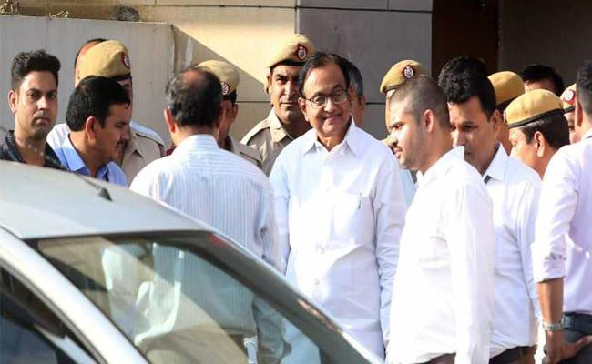 Delhi Special Court Extend Chidambaram CBI Custody Till Monday - Sakshi