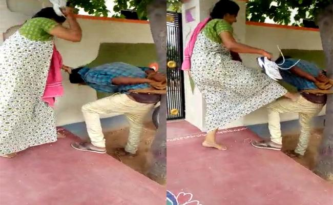 Man Who Harassed Married Woman Was Beaten Up With Shoe In Nalgonda - Sakshi